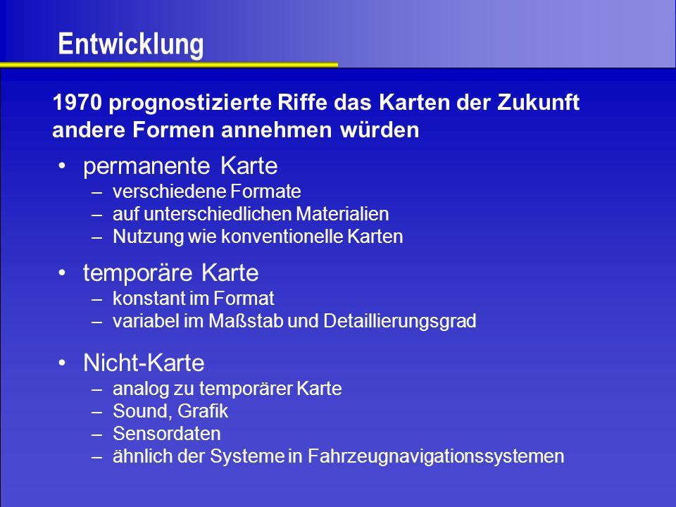 Inhalt des Bildschirms Kartenbild Kartenrand Menüleiste Infoleiste Legende