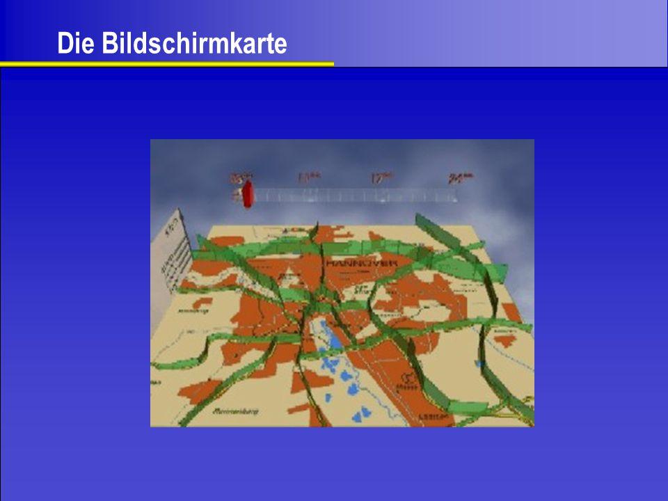 Kartenbild Veränderung des Kartenbildes durch Variation der Darstellung möglich.