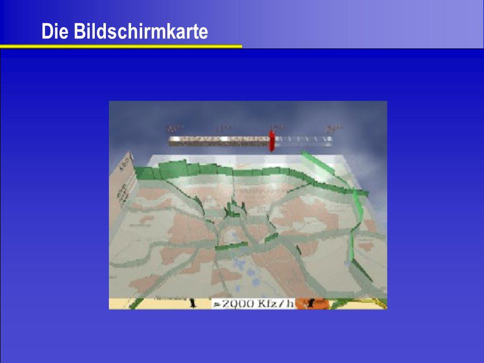 Kartenrand - Menüleiste - Infoleiste Bereich außerhalb der Karte.
