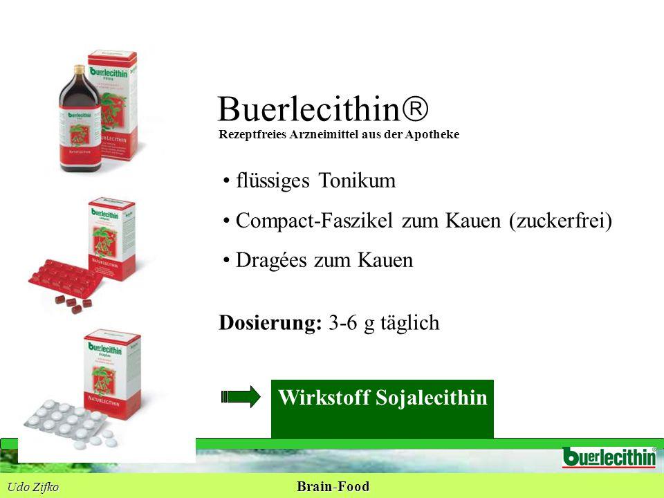 Buerlecithin  flüssiges Tonikum Compact-Faszikel zum Kauen (zuckerfrei) Dragées zum Kauen Wirkstoff Sojalecithin Dosierung: 3-6 g täglich Rezeptfreie