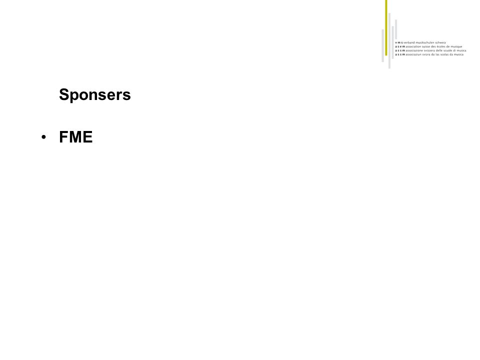 Sponsers FME