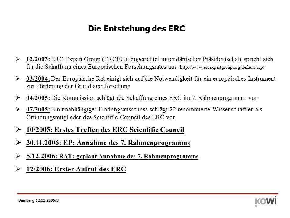 Bamberg 12.12.2006/14  Zweistufiges Antragsverfahren  1.