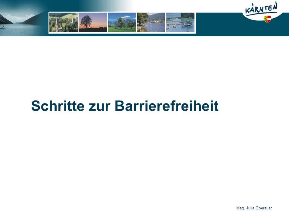 Mag. Julia Oberauer Schritte zur Barrierefreiheit