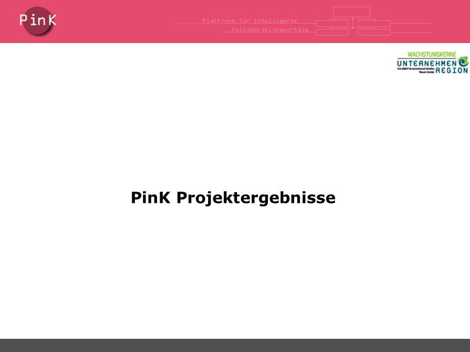 PinK Projektergebnisse