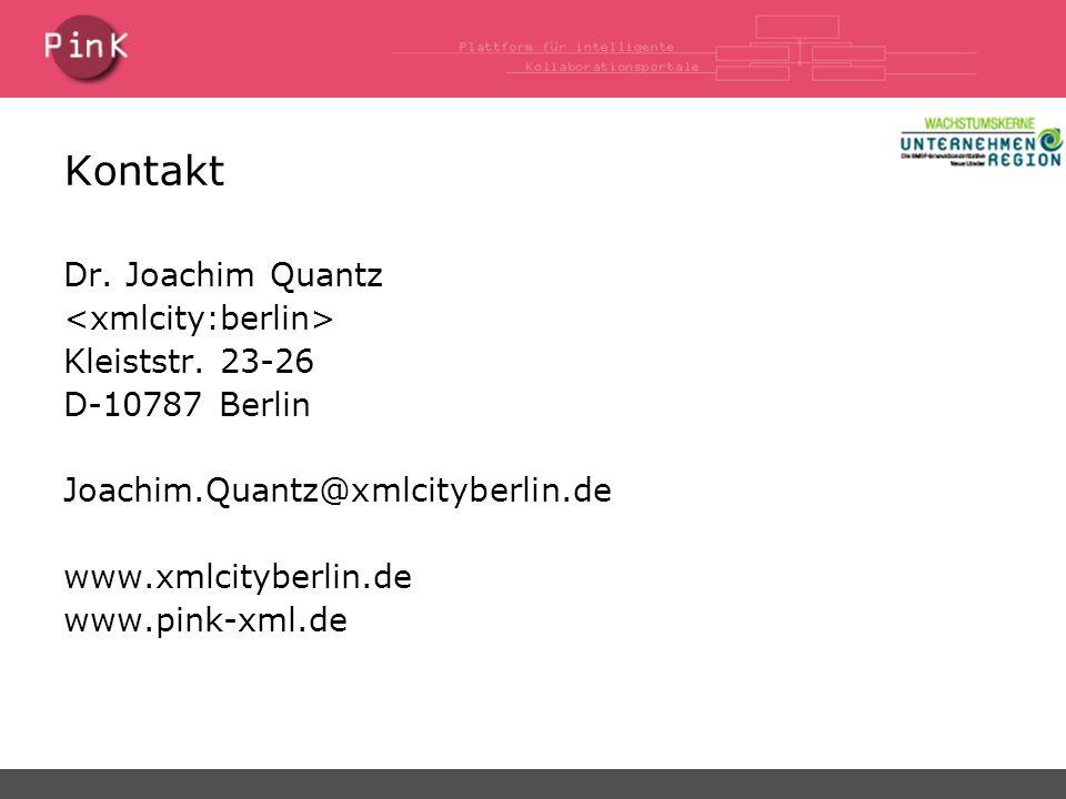 Kontakt Dr. Joachim Quantz Kleiststr.