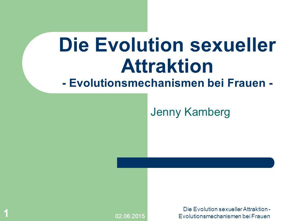 02.06.2015 Die Evolution sexueller Attraktion - Evolutionsmechanismen bei Frauen 1 Die Evolution sexueller Attraktion - Evolutionsmechanismen bei Frau