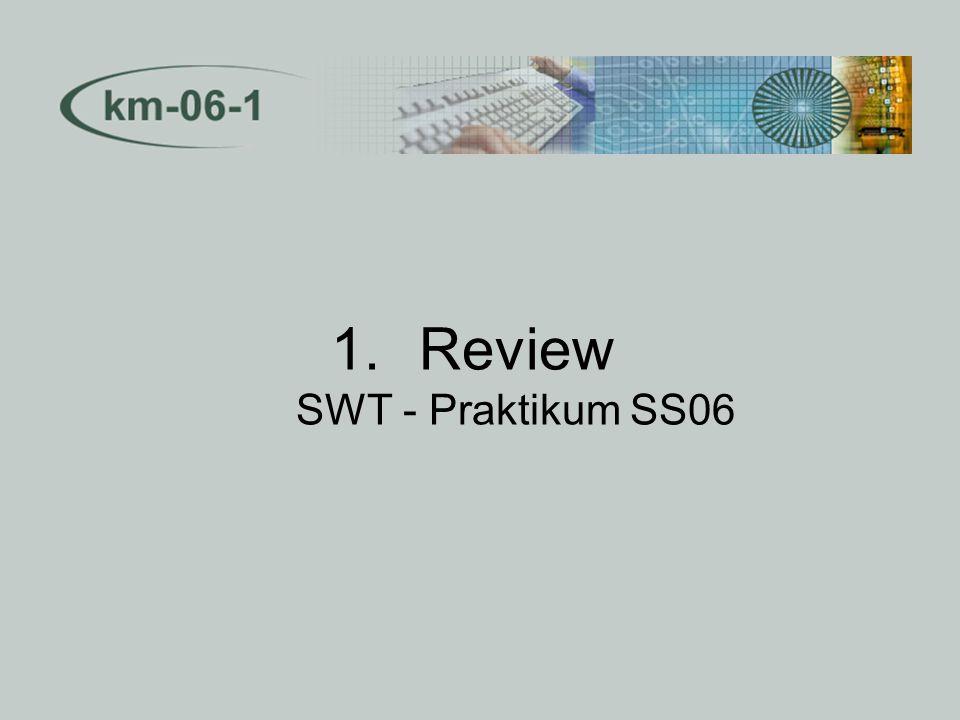 1.Review SWT - Praktikum SS06