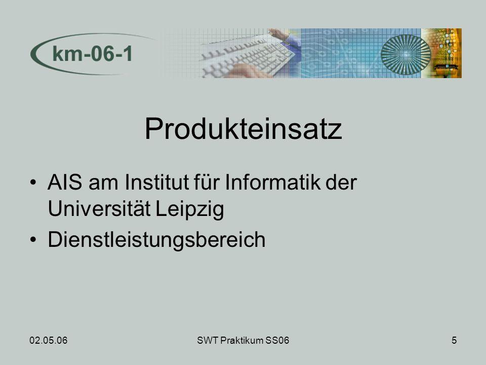 02.05.06SWT Praktikum SS0616 Produktleistungen Unter 20 sec.