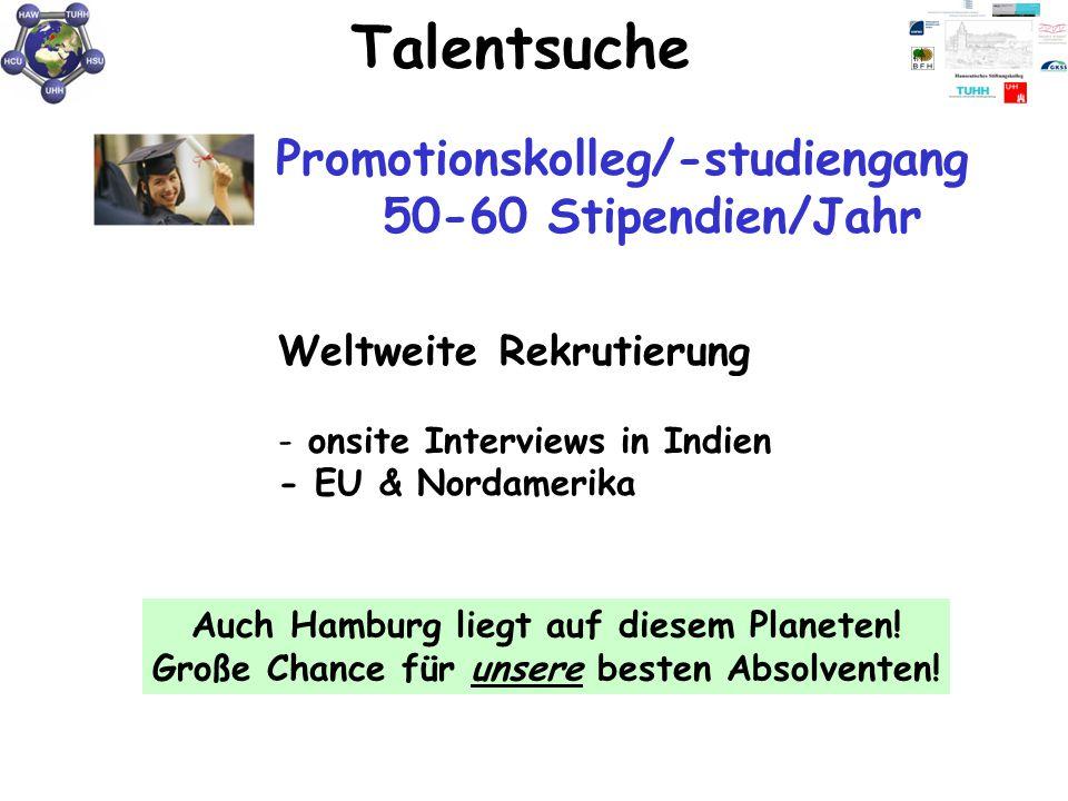 Talentsuche Weltweite Rekrutierung - onsite Interviews in Indien - EU & Nordamerika Auch Hamburg liegt auf diesem Planeten! Große Chance für unsere be
