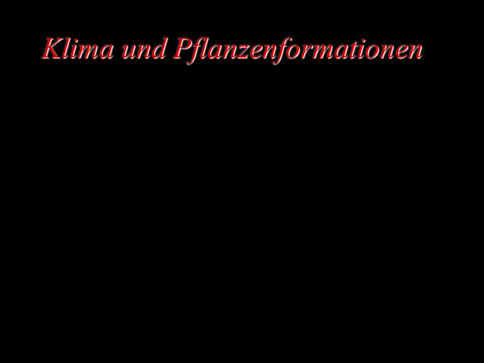 Klima und Pflanzenformationen