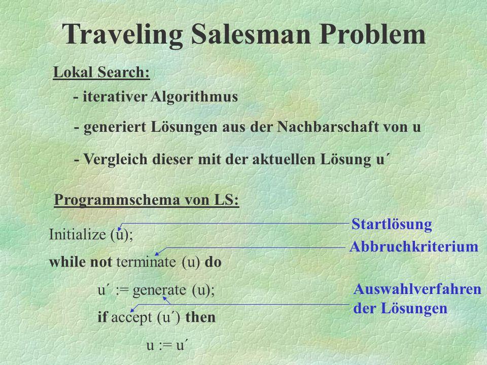 Traveling Salesman Problem Lokal Search: Erst einmal müssen für Lokal Search einige Voraussetzungen erfüllt sein, damit sie arbeitet werden können.