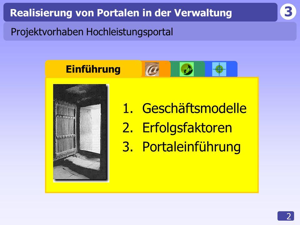 3 Realisierung von Portalen in der Verwaltung 13 Zahlungsvorgänge Behörde WirtschaftsunternehmenBürger Plattformbetreiber