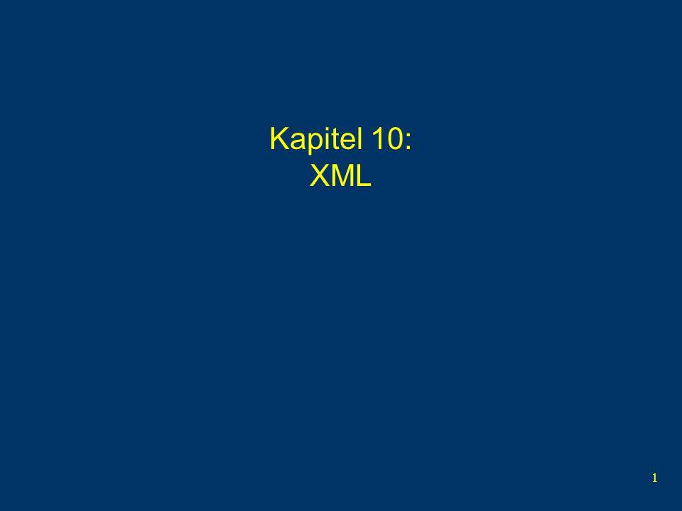 1 Kapitel 10: XML