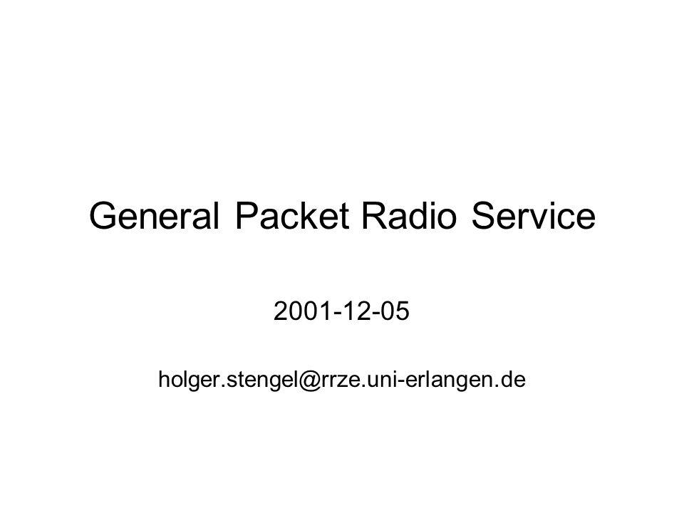2001-12-05GPRS2 Gliederung Eigenschaften Vergleich der GSM Datendienste Netzarchitektur Fern-Zugriff auf das Firmennetz Einschränkungen der Datenrate Tarife für den Internetzugang Siemens S45 GPRS Konfiguration der Internetverbindung