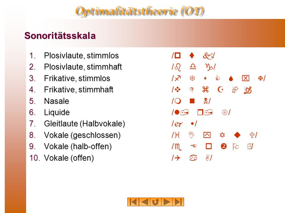 Silbenbildung in mehrsilbigen Wörtern GA R A /metXXXXXrIXn/X« KG R /QtlGs/XXXXX«KG R  K R A