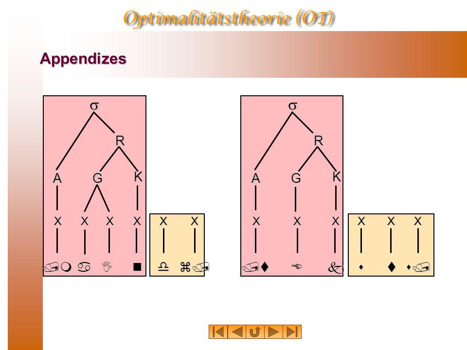 Appendizes /man A XX K  R G XXX dI X s/ X z/s X t X /tEk A K  R G XXX