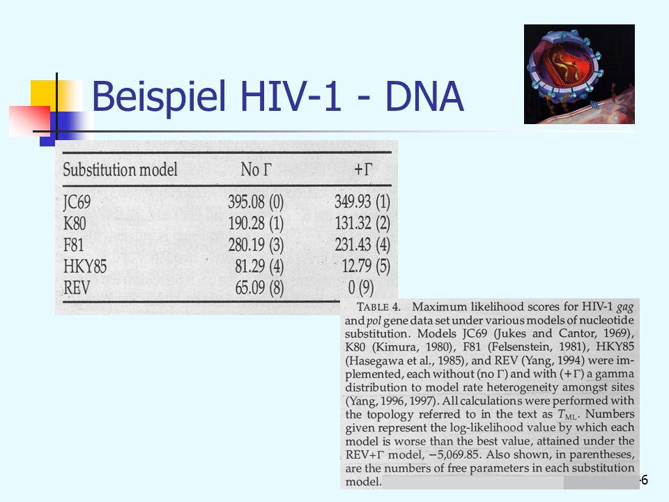 46 Beispiel HIV-1 - DNA