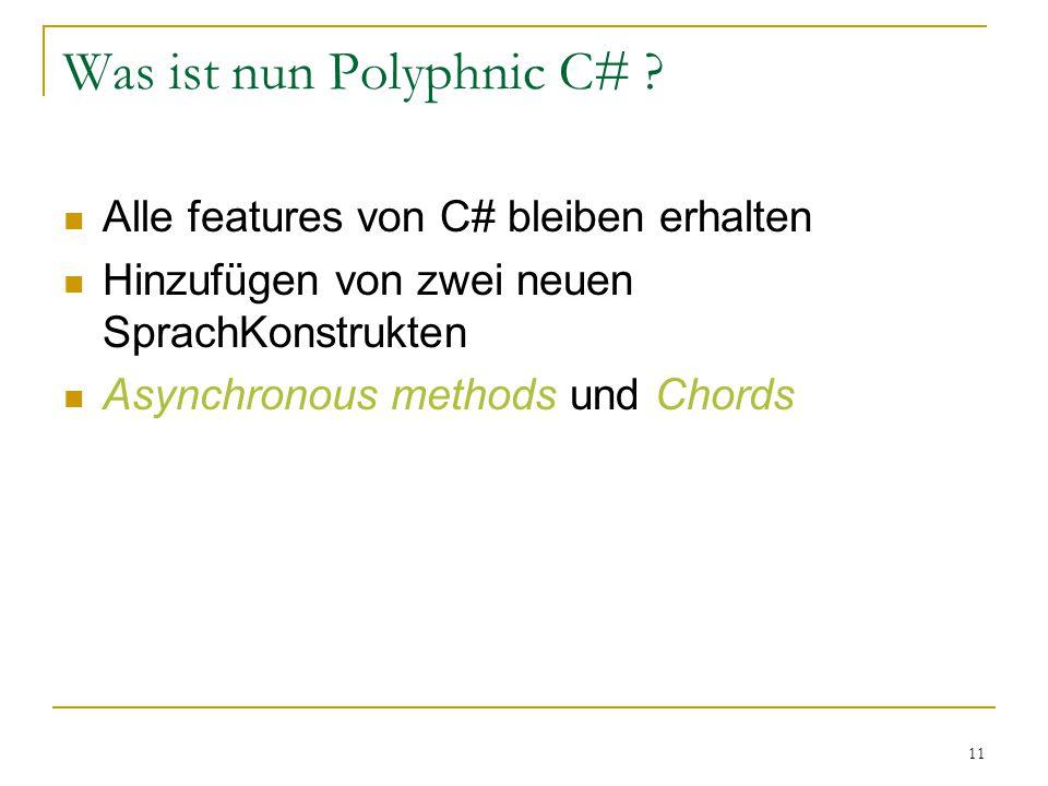 11 Was ist nun Polyphnic C# .