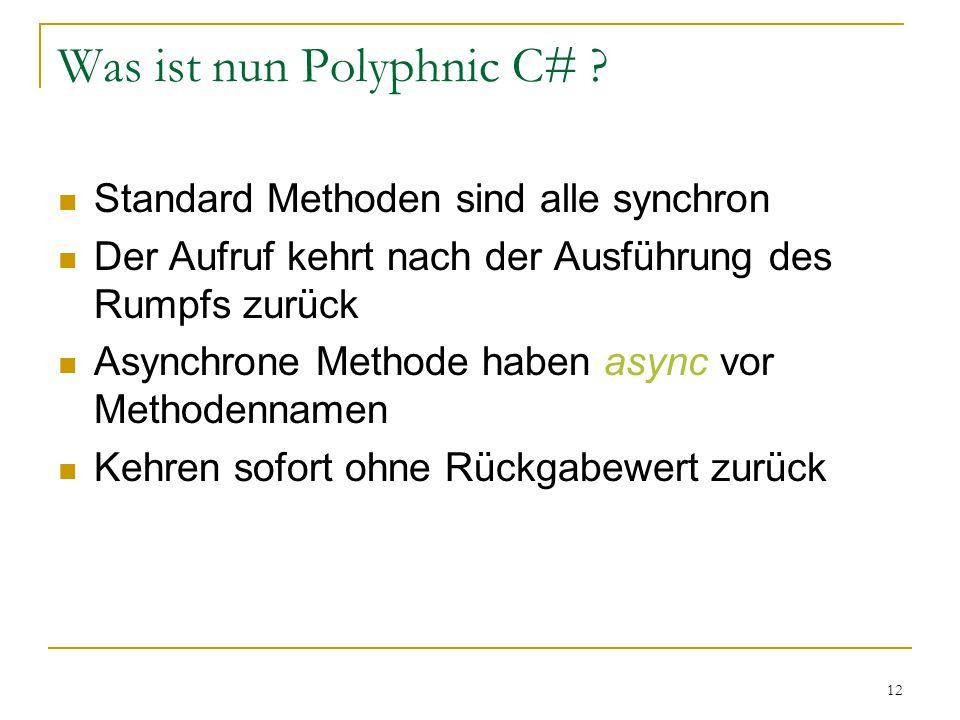 12 Was ist nun Polyphnic C# .