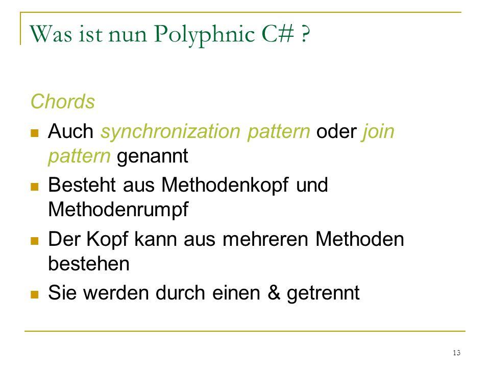 13 Was ist nun Polyphnic C# .