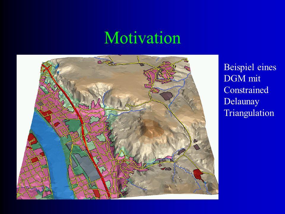 Bedingte Voronoi-Diagramme eindeutige Konstruktion nicht möglich Lösung: bedingte Voronoi-Diagramme dazu Erweiterung der Definition der Nachbarschafts- regionen nötig dadurch Überschneidung der Regionen möglich