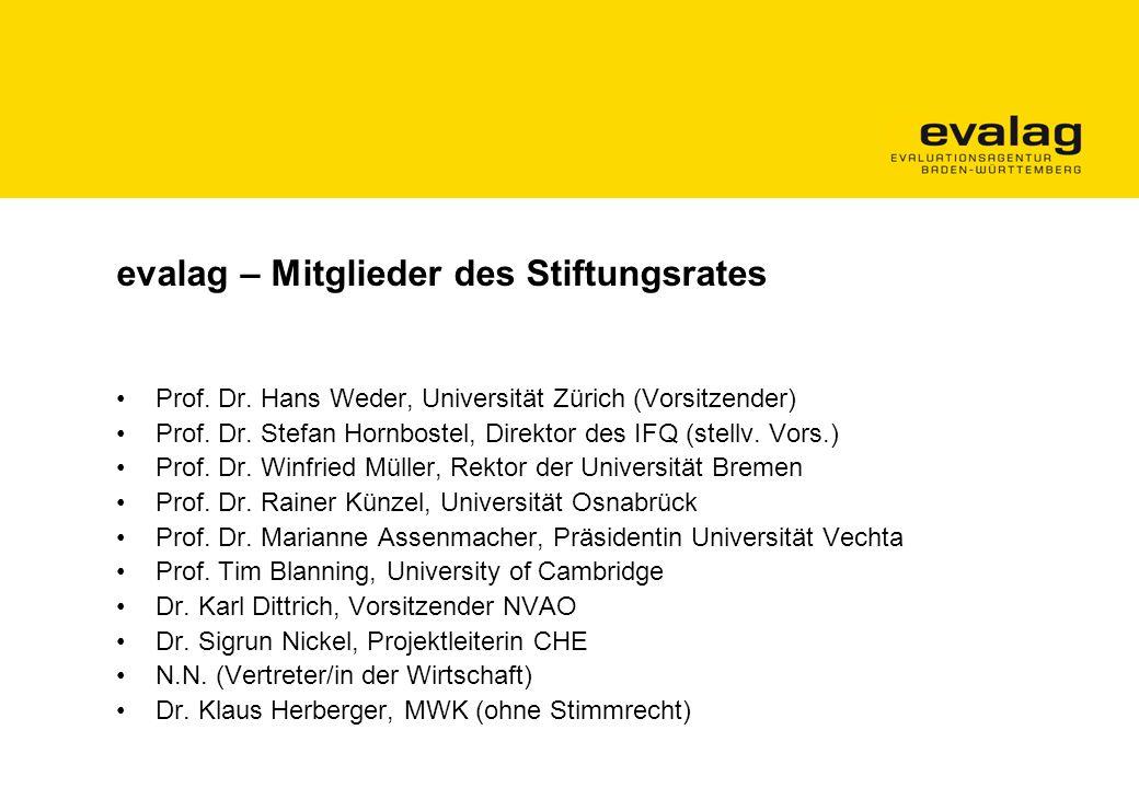 evalag – Mitglieder des Stiftungsrates Prof.Dr.
