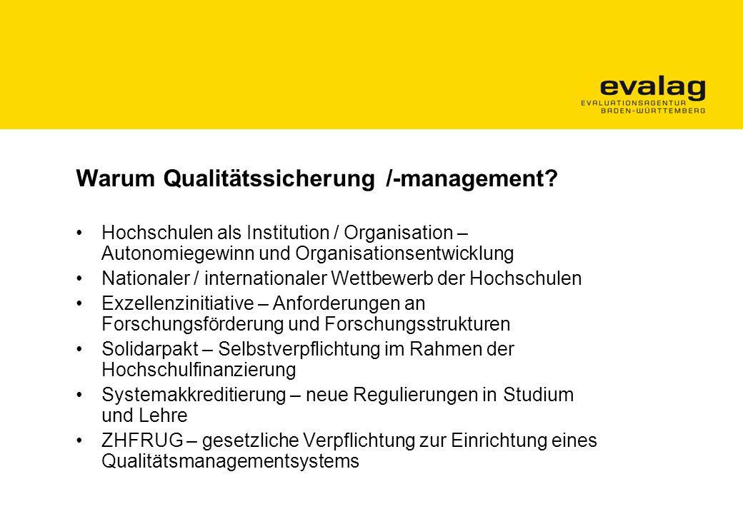 Warum Qualitätssicherung /-management.