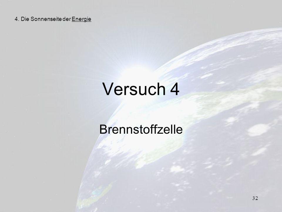 32 Versuch 4 Brennstoffzelle 4. Die Sonnenseite der Energie