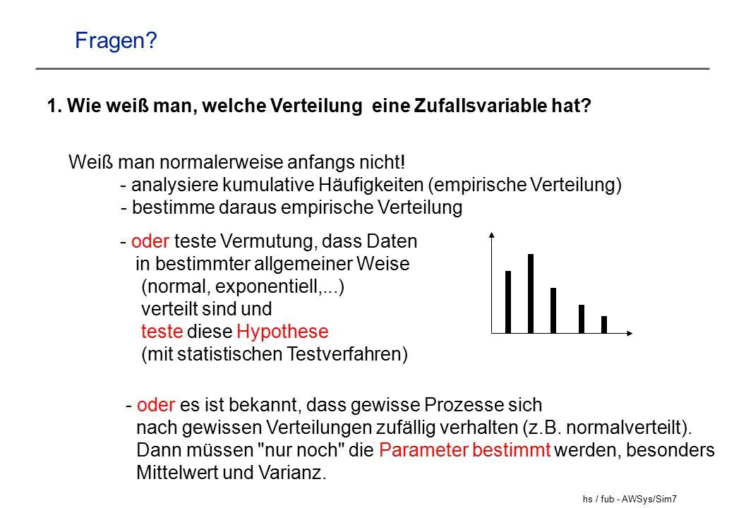 hs / fub - AWSys/Sim18 Die Ereignisroutinen (2) Bedienende freieLeitungen++; KdWarteschlange leer.
