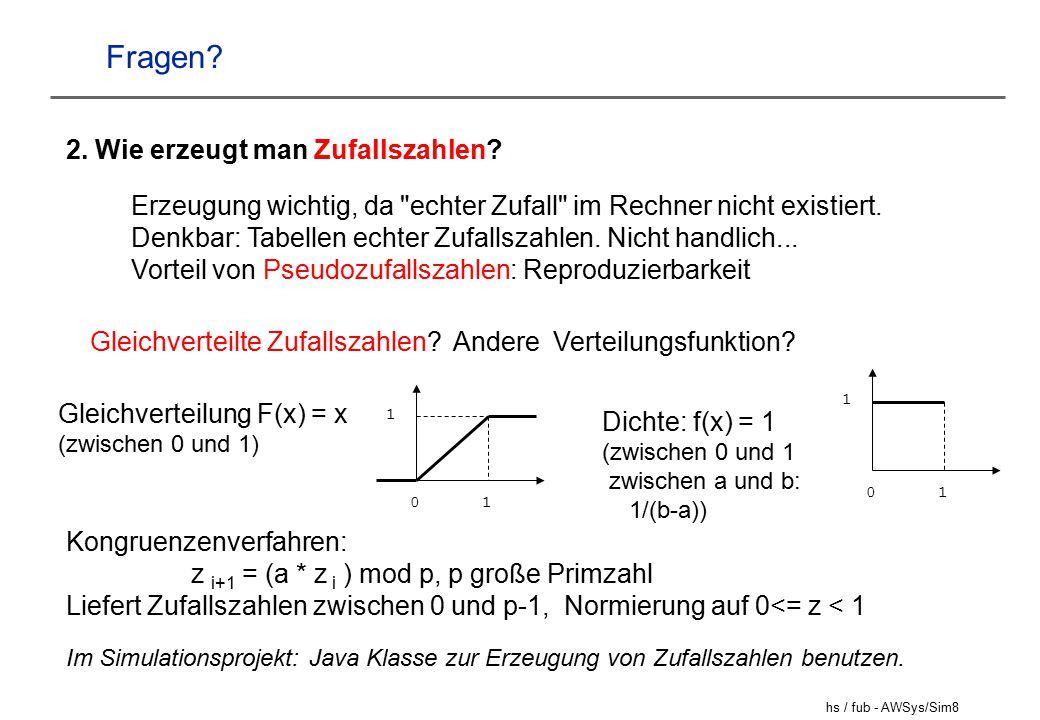 hs / fub - AWSys/Sim8 Fragen.2. Wie erzeugt man Zufallszahlen.