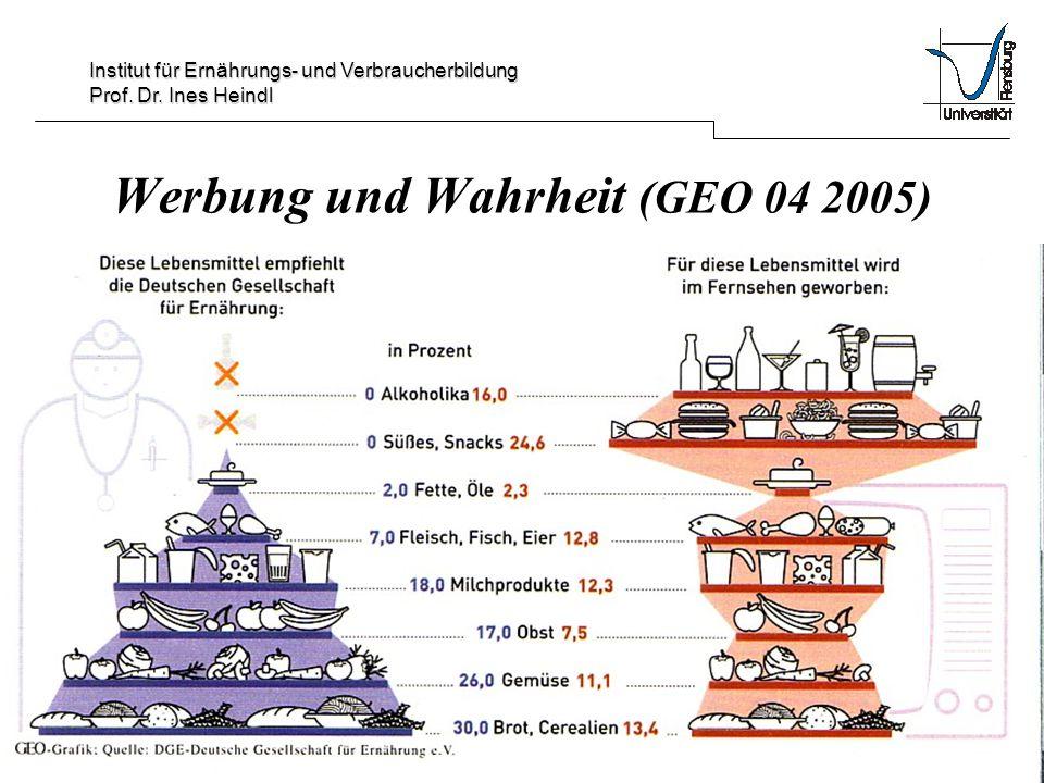 Werbung und Wahrheit (GEO 04 2005)