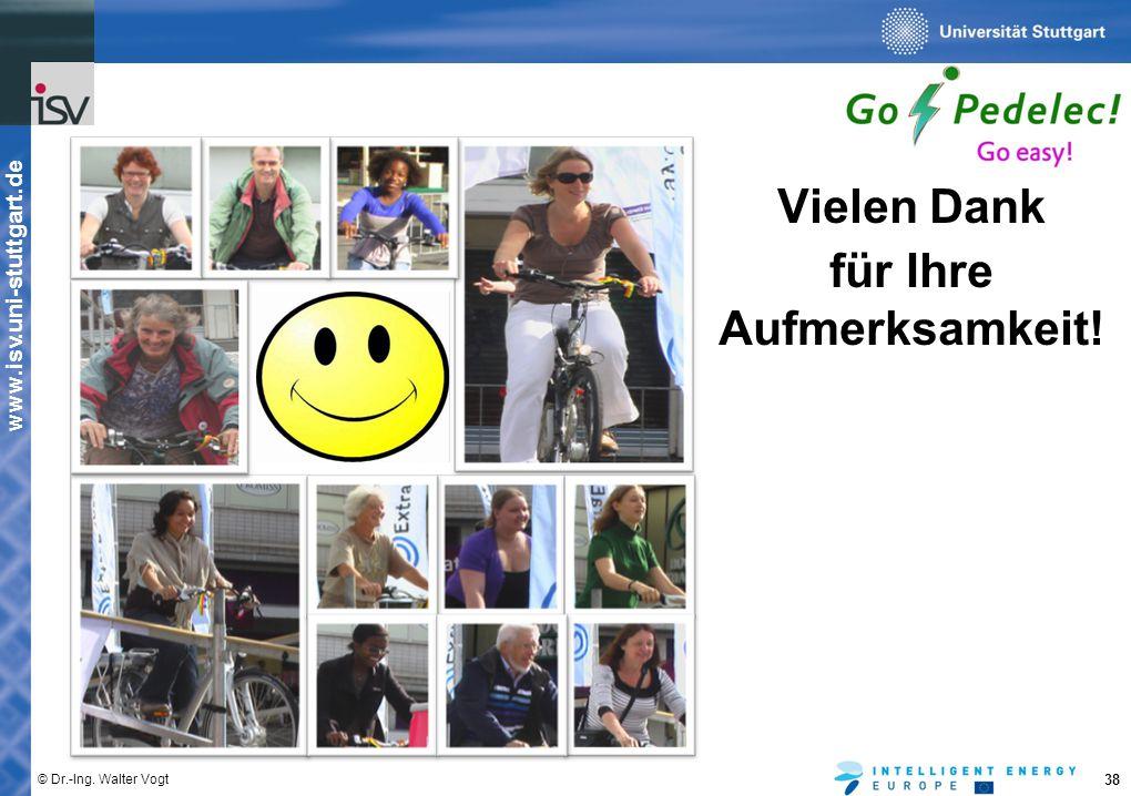 www.isv.uni-stuttgart.de © Dr.-Ing. Walter Vogt 38 Vielen Dank für Ihre Aufmerksamkeit!