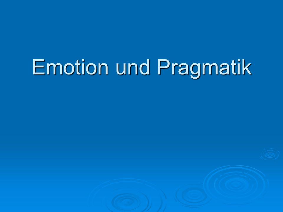 Existierende Dichotomien Emotion ---- Kognition Gefühle ---- Gedanken