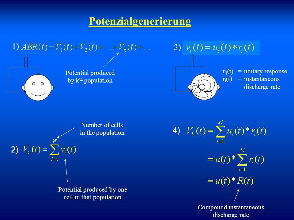 Modellierung von evozierten Potenzialen? Welche Population generiert welchen Potenzialpeak? Wie ist die Beziehung zwischen Hirnstammantworten und coch
