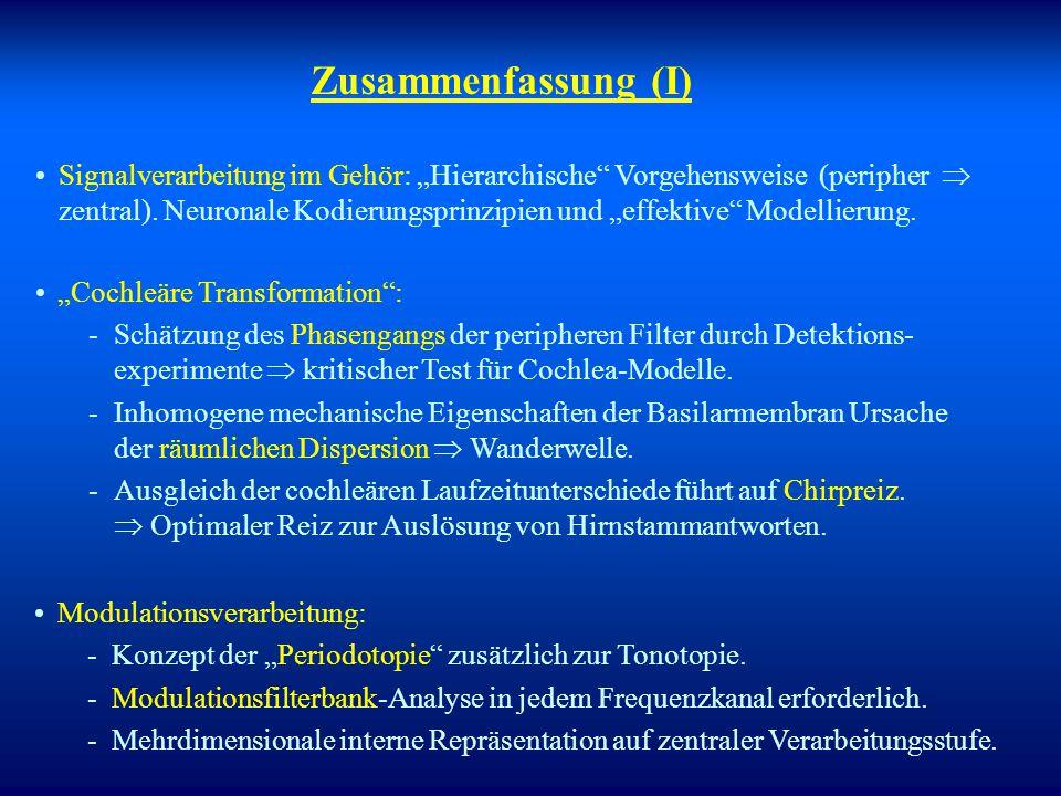"""Anwendungen der Modelle in klinischer Diagnostik? Perzeptionsmodell : Evozierte Potenziale : -Möglichkeiten und Grenzen eines """"objektiven"""" Nachweises"""