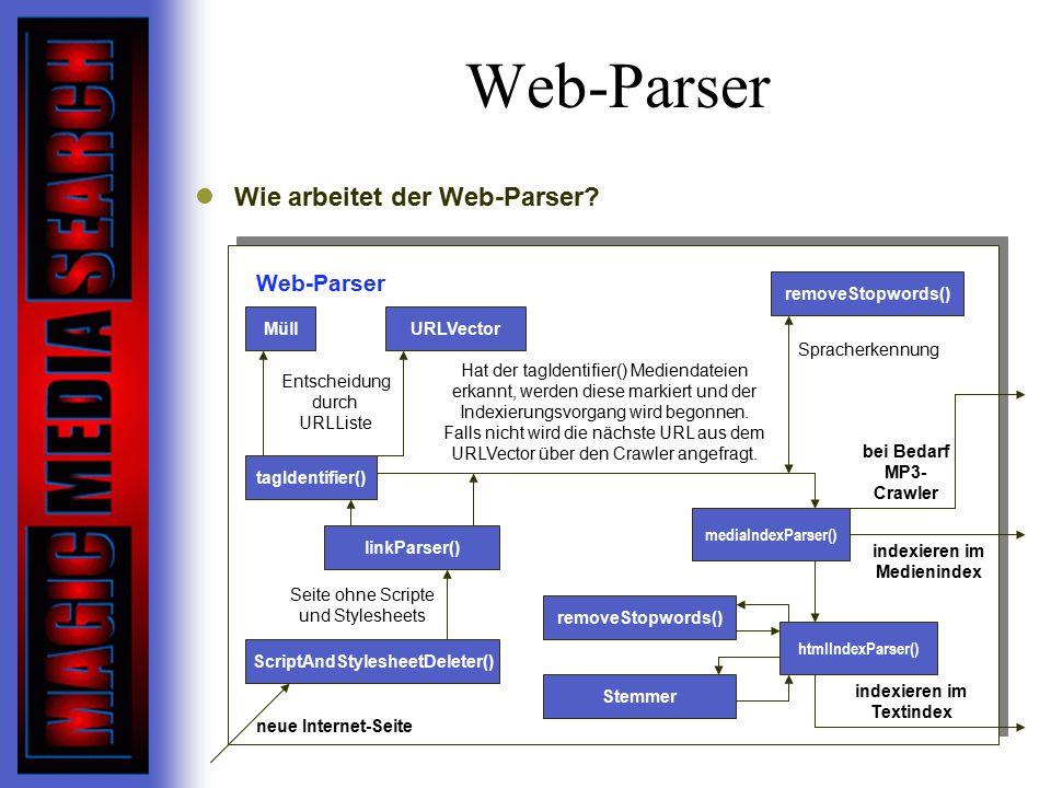 Web-Parser Wie arbeitet der Web-Parser.