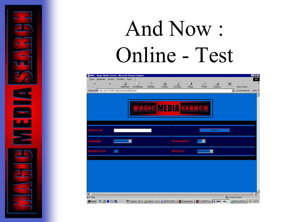 And Now : Online - Test
