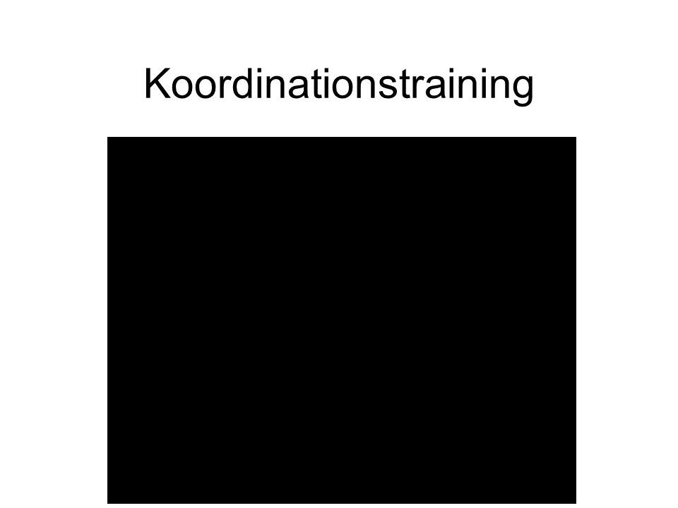 Koordinationstraining