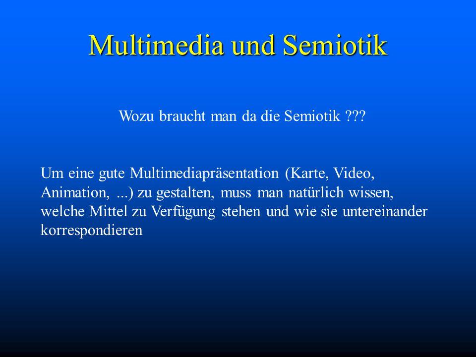 Multimedia und Semiotik Wozu braucht man da die Semiotik .