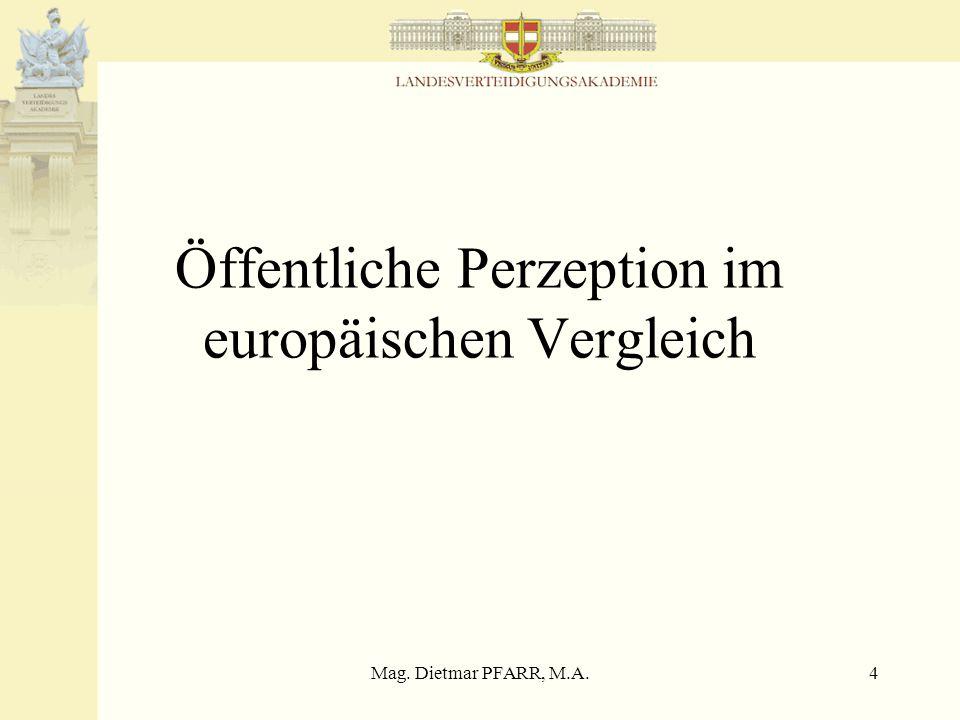 Mag. Dietmar PFARR, M.A.15 Befürwortung schnelle militärische Eingreiftruppe