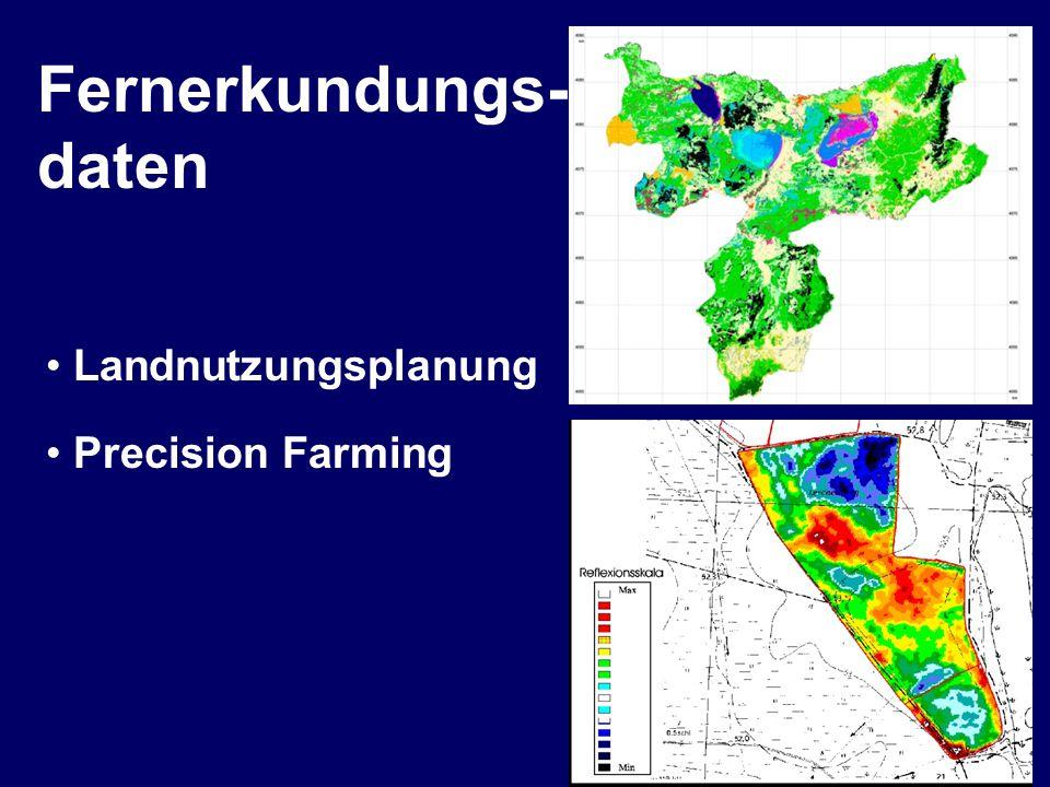 Landnutzungsplanung Beispiel einer Anwendung im kleinen Maßstab Landnutzungsplanung im Nationalpark El Kala (Algerien) mit Hilfe von Fernerkundungsdaten Fernerkundungsdaten - Anwendung der Fernerkundung in der Landwirtschaft