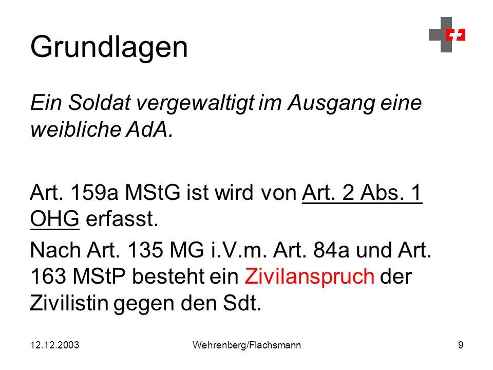 12.12.2003Wehrenberg/Flachsmann40 Art. 84a MStP Opferbegriff