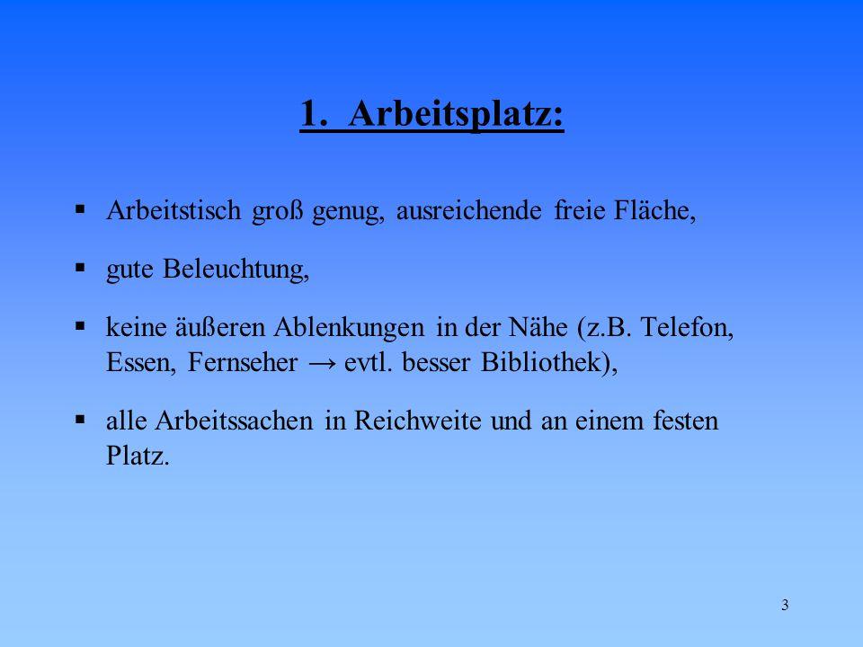 14 7.6.Karteikarten – Technik I  Die Lerninhalte in Teilgebiete unterteilen.