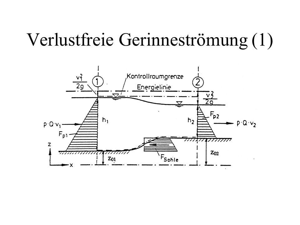 Fliesszustand (1) TeichBach  Fliessrichtung Strömenkritischer Abfluss Schiessen Schiessen: z.