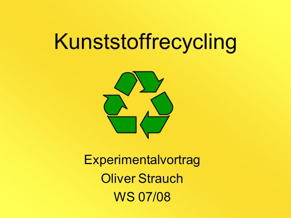 Kunststoffrecycling Experimentalvortrag Oliver Strauch WS 07/08
