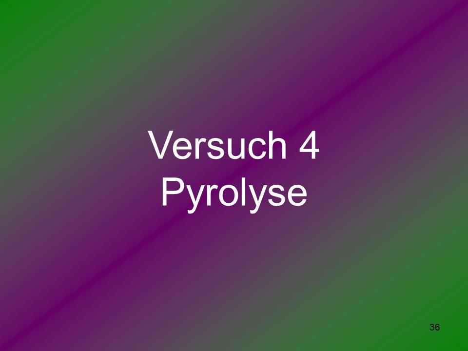 36 Versuch 4 Pyrolyse