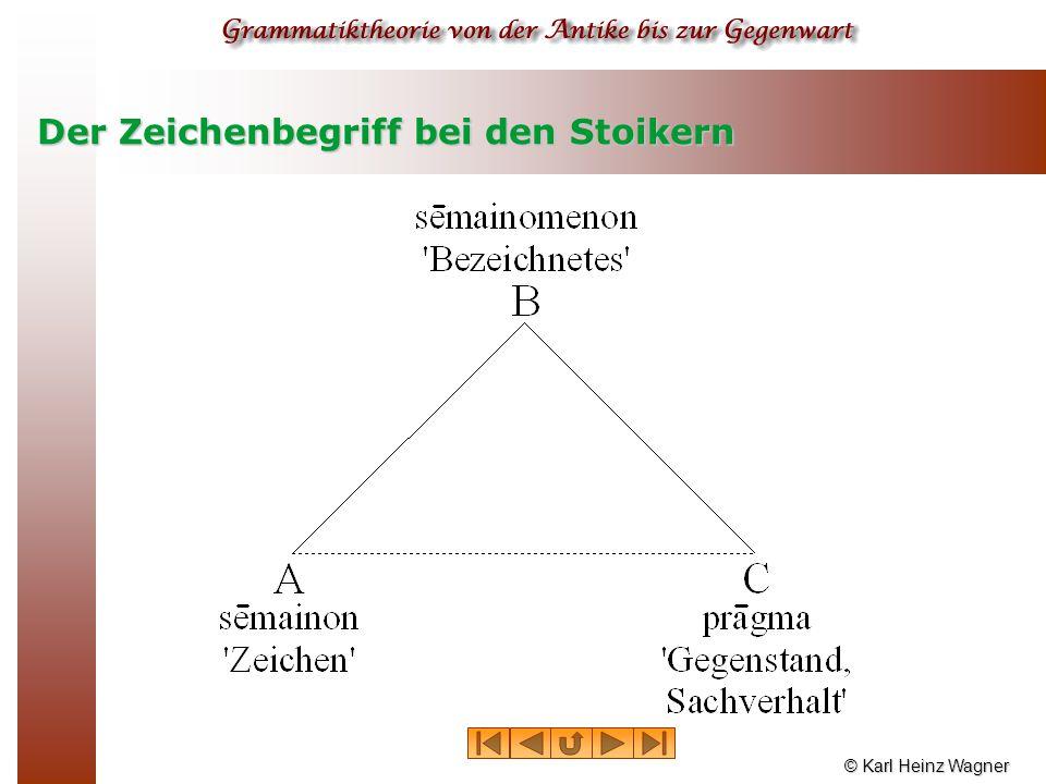 © Karl Heinz Wagner Der Zeichenbegriff bei den Stoikern