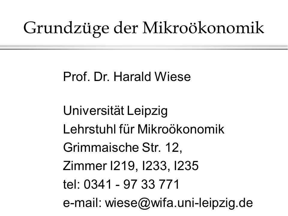 Grundzüge der Mikroökonomik Prof.Dr.