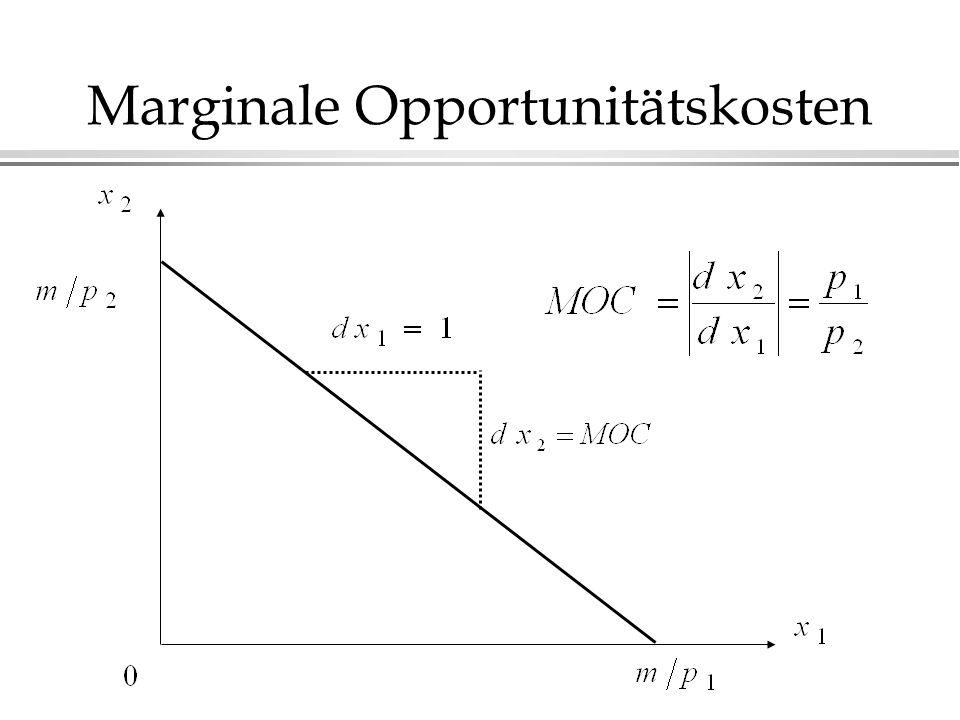 Marginale Opportunitätskosten