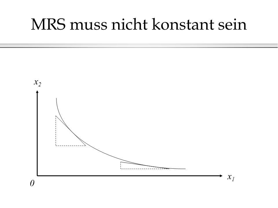 MRS muss nicht konstant sein x2x2 x1x1 0